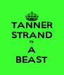 TANNER STRAND IS A BEAST - Personalised Poster A4 size