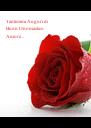 Tantissimi Auguri di Buon Onomastico Amore... - Personalised Poster A4 size