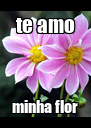 te amo minha flor - Personalised Poster A4 size