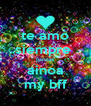 te amo siempre  juntas ainoa my bff - Personalised Poster A4 size