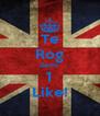 Te Rog da-mi  1 Like! - Personalised Poster A4 size