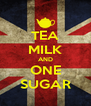 TEA MILK AND ONE SUGAR - Personalised Poster A4 size