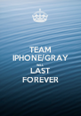 TEAM IPHONE/GRAY WILL LAST FOREVER - Personalised Poster A4 size