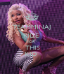 TEAMMINAJ RIDE  FOR   THIS KID  - Personalised Poster A4 size
