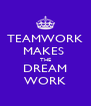 TEAMWORK MAKES  THE DREAM WORK - Personalised Poster A4 size