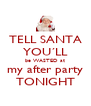 TELL SANTA YOU´LL be WASTED at my after party TONIGHT - Personalised Poster A4 size