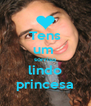 Tens um  sorriso lindo princesa - Personalised Poster A4 size
