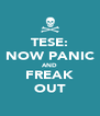 TESE: NOW PANIC AND FREAK OUT - Personalised Poster A4 size