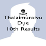 Thalaimuraivu Due To 10th Results  - Personalised Poster A4 size