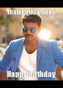 Thalapathi wishes  Happy birthday - Personalised Poster A4 size
