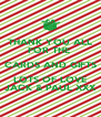 THANK YOU ALL FOR THE  CARDS AND GIFTS LOTS OF LOVE JACK & PAUL XXX - Personalised Poster A4 size