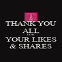 THANK YOU ALL FOR YOUR LIKES & SHARES - Personalised Poster A4 size