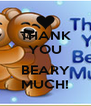 THANK YOU  BEARY MUCH! - Personalised Poster A4 size
