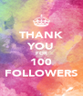 THANK YOU FOR 100 FOLLOWERS - Personalised Poster A4 size