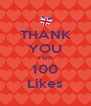 THANK YOU FOR 100 Likes - Personalised Poster A4 size