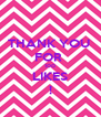 THANK YOU  FOR  100 LIKES ! - Personalised Poster A4 size