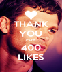 THANK YOU FOR 400 LIKES - Personalised Poster A4 size