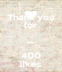Thank you for .... 400 likes - Personalised Poster A4 size
