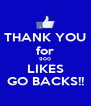 THANK YOU for 900 LIKES GO BACKS!! - Personalised Poster A4 size