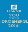 THANK YOU for joining HIDROENERGIA 2014! - Personalised Poster A4 size