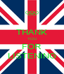 THANK YOU FOR LISTENING - Personalised Poster A4 size