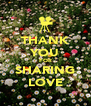 THANK YOU FOR SHARING LOVE - Personalised Poster A4 size