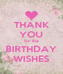 THANK YOU for the BIRTHDAY WISHES - Personalised Poster A4 size
