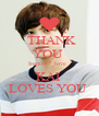 THANK  YOU  Inspirit7_love   KAI  LOVES YOU  - Personalised Poster A4 size