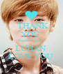 THANK  YOU  Inspirit7_love   LUHAN  LOVE YOU  - Personalised Poster A4 size