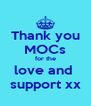 Thank you MOCs for the love and  support xx - Personalised Poster A4 size
