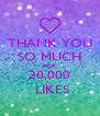 THANK YOU SO MUCH FOR 20,000  LIKES - Personalised Poster A4 size
