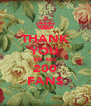 THANK YOU WE ARE 200 FANS - Personalised Poster A4 size