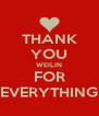 THANK YOU WEILIN FOR EVERYTHING - Personalised Poster A4 size
