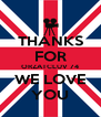 THANKS FOR ORZATCLUV 74 WE LOVE YOU - Personalised Poster A4 size