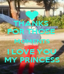 THANKS  FOR THOSE  MOMENTS I LOVE YOU MY PRINCESS - Personalised Poster A4 size