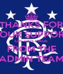 THANKS FOR YOUR SUPPORT ON THIS PAGE FROM THE ADMIN TEAM - Personalised Poster A4 size