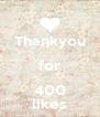 Thankyou for 400 likes - Personalised Poster A4 size