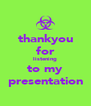 thankyou for listening to my presentation - Personalised Poster A4 size