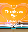 Thankyou For The Likes in Musical.ly - Personalised Poster A4 size