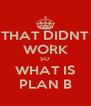THAT DIDNT WORK SO WHAT IS PLAN B - Personalised Poster A4 size