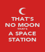 THAT'S NO MOON THAT'S A SPACE STATION - Personalised Poster A4 size