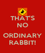 THAT'S NO  ORDINARY RABBIT! - Personalised Poster A4 size