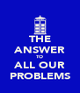 THE ANSWER TO ALL OUR PROBLEMS - Personalised Poster A4 size