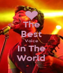 The Best Voice In The World - Personalised Poster A4 size
