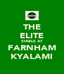 THE ELITE STABLE AT FARNHAM KYALAMI - Personalised Poster A4 size