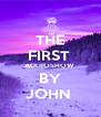 THE FIRST  AUDIOSHOW  BY JOHN  - Personalised Poster A4 size