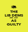 THE LIB DEMS ARE JUST AS GUILTY - Personalised Poster A4 size