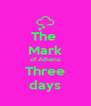 The  Mark of Athena Three days - Personalised Poster A4 size