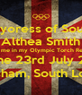 The Mayoress of Southwark Althea Smith helped me in my Olympic Torch Relay leg on the 23rd July 2012 Lewisham, South London - Personalised Poster A4 size