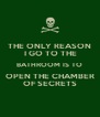 THE ONLY REASON  I GO TO THE BATHROOM IS TO OPEN THE CHAMBER OF SECRETS - Personalised Poster A4 size